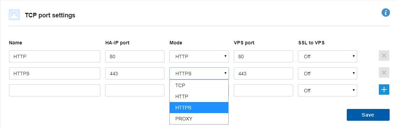 De verschillende doorstuursmodi van HA-IP
