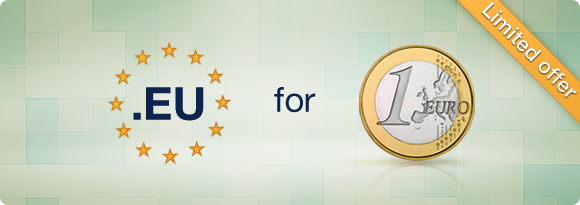 .EU domain for €1,- Special Promo. Order today.